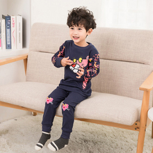 Hot Sales 2019 Boys Cotton Pajamas Girl cotton Children Sets for children Clothes  1-8Y