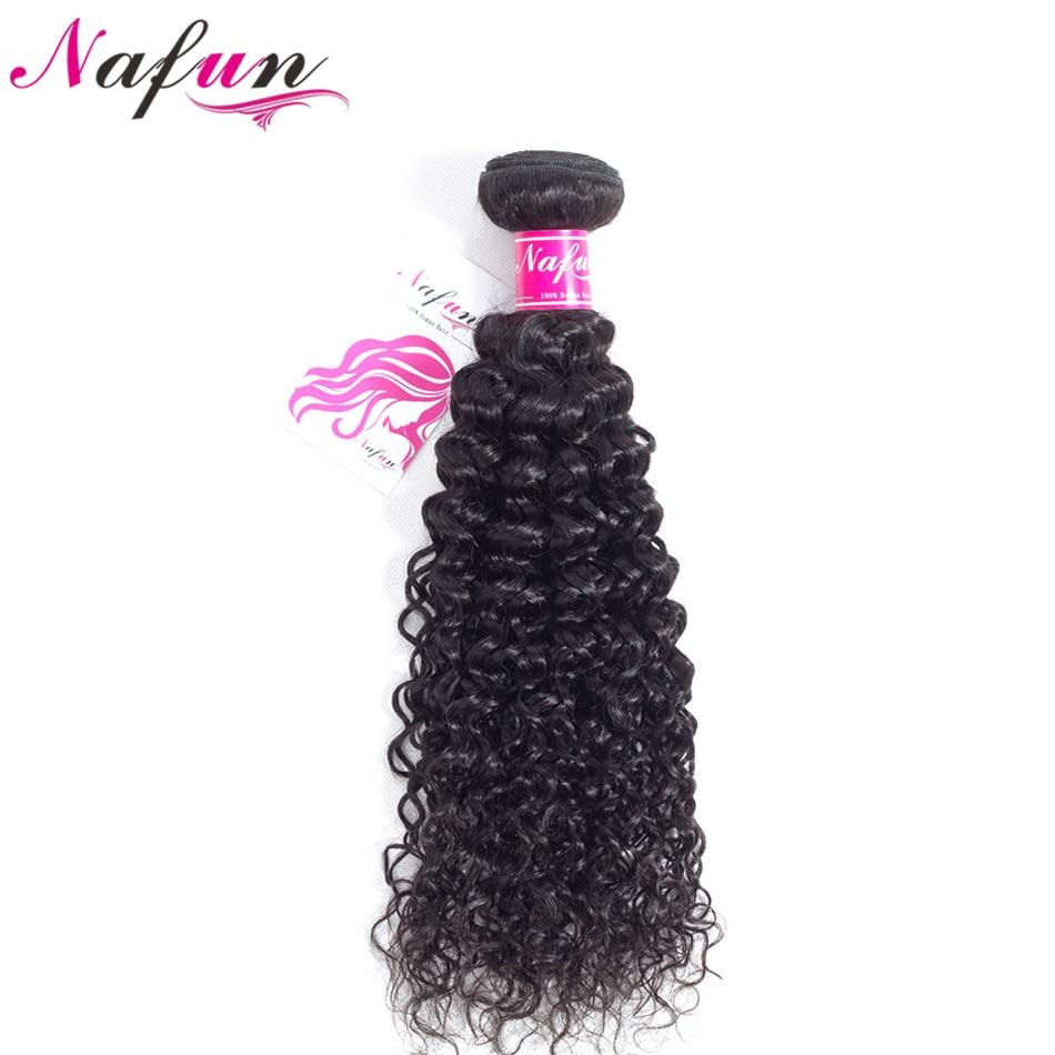 NAFUN Cheveux Péruvienne Crépus Bouclés Extension de Cheveux 100% Non Remy Faisceaux de Cheveux Humains Machine Double Trame Nature Couleur Cheveux