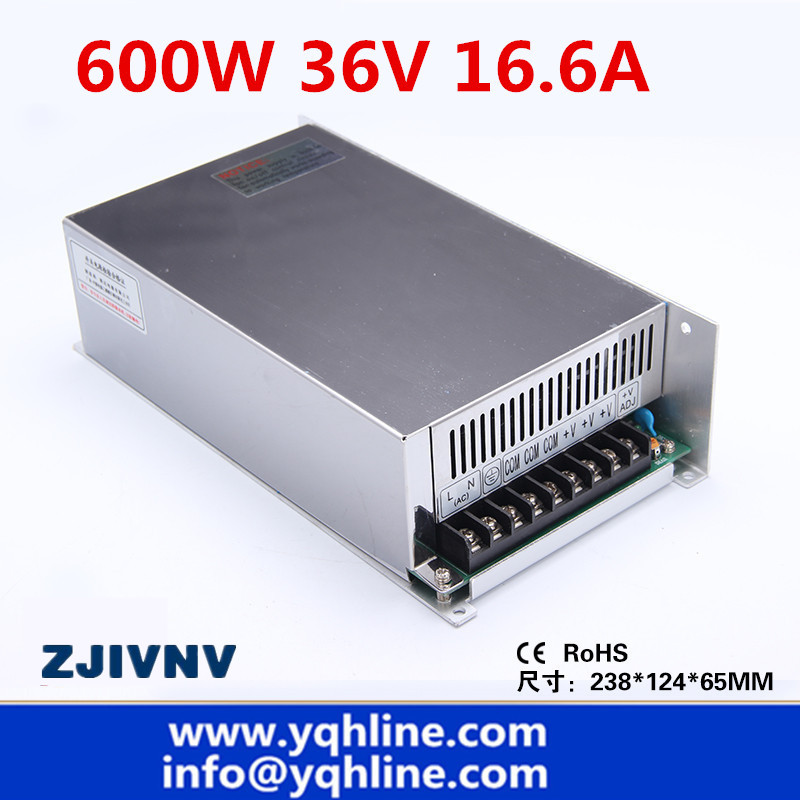 S-600-36 CE approved high quality SMPS Led switching power supply 36V 16.6A 600W 110/220Vac to dc 36v made in China industrial machinery switching mode power supply 36v 16 6a 600w sp 600 36 with ce certified