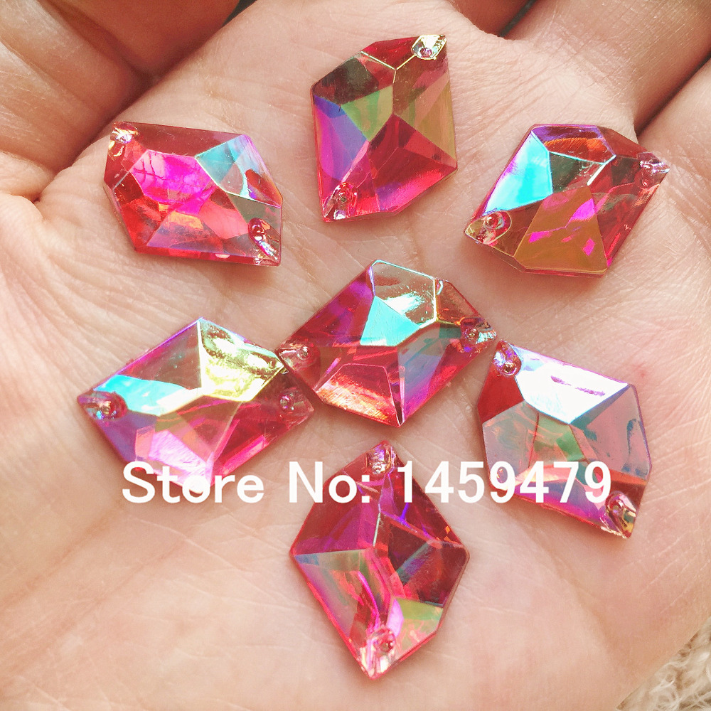 Nuevo coser en cristales Mei rojo AB color Diamantes con piedras ...
