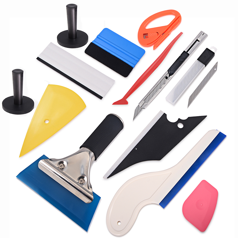 FOSHIO Car Tinting Tool Set Vinyl Wrap Squeegee Car Sticker Carbon Foil Film Magnetic Holder Knife Window Tint Car Accessories in Window Foils from Automobiles Motorcycles