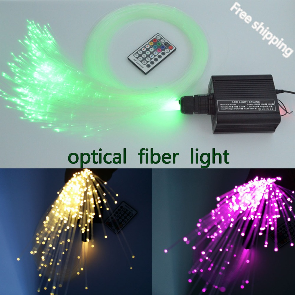 DIY RGBW LED plastic Fiber Optic Satar Ceiling Kit Lighting 150pcs*0.75mm*2M+ 16w optical fiber Light source+28key RF Remote diy lights 16w rgbw 28key rf remote led fiber optic star ceiling light kit 2m 300pcs 0 75mm fiber optic lighting