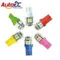 T10 5 SMD 5050 Lâmpadas LED Car light Side 194 168 W5W Branco/Vermelho/Verde/Azul/amarelo/rosa Cunha luz AutoEC 300 pçs/lote # LB12