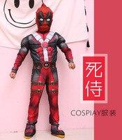 Christmas Boys Muscle Super Hero Flash Costume Deadpool Hulk Avengers Costumes Cosplay For Kids Children Boy