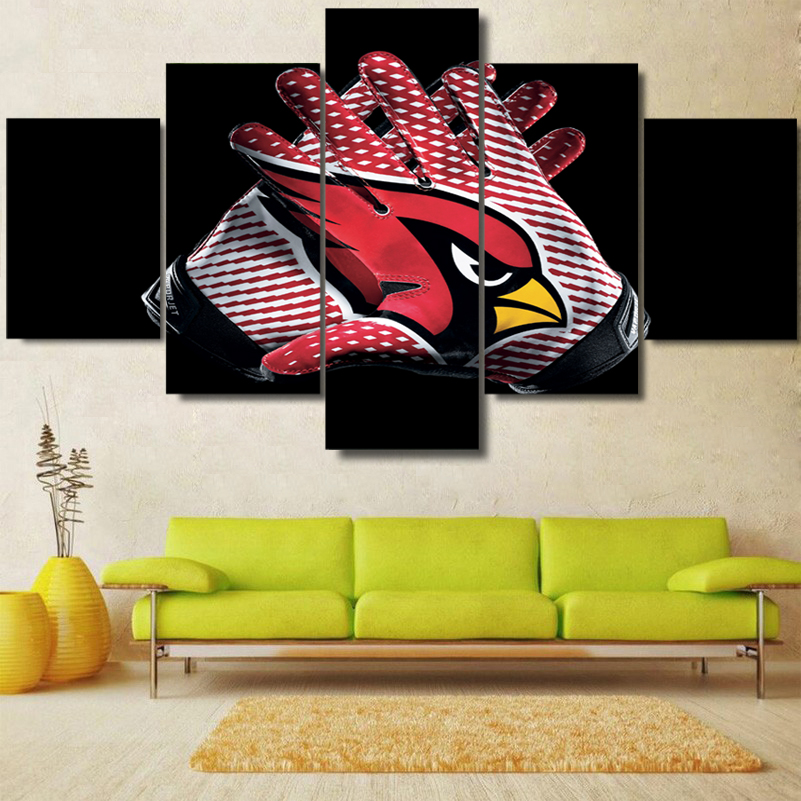 5 Panels Hd Arizona Cardinals Canvas Painting Prints Sport
