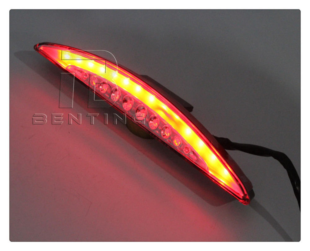 Motorcycle Red Fender Tip Brake Rear Tail LED Light For Harley Break out FXSB 2013-2016 14 15  clear smoke red lens motorcycle red led brake stop rear fender tip tail light indicator lamp for harley breakout fxsb 2013 2016