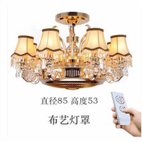 Ceiling fans lamp Anion stealth fan lamp ceiling lamp zinc alloy crystal european style remote control lamps 8 Heads ceiling fan