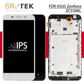 Tela Para Asus Zenfone Srjtek Max ZenFone 5000 Z010DA LCD Display Touch ZC550KL ZC550KL ZC550KL LCD Moldura De Vidro 5.5'' 1280*720