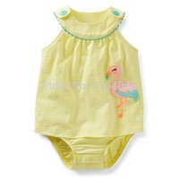 SD1-020, Original, Baby Girls Rompers, Sleeveless, Nice Embroidered, Soft Feeling, Free Shipping