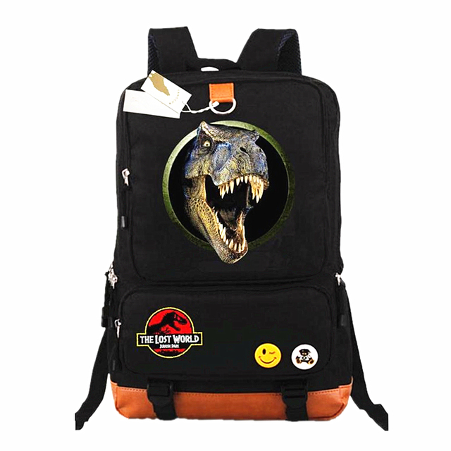97cf4a84a65 Jurassic Park Laptop Bags Casual Backpack teenagers Men women s Kids  Student School Bags bookbag travel Shoulder