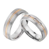 1 pair custom mens womens Alliances wedding band couple rings set titanium jewelry anniversary promise ring