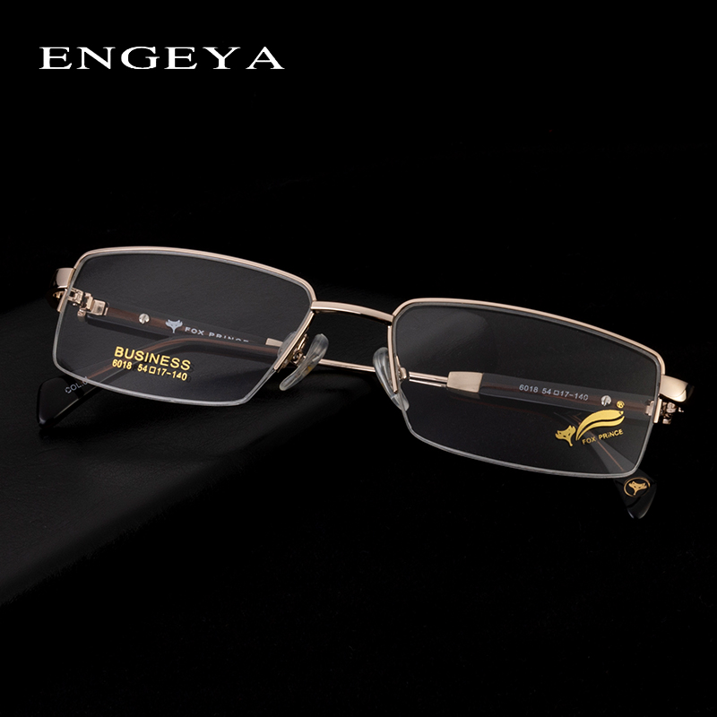 1c31427d13 Metal Optical Glasses Frames Men Classical Mature Computer minus  Prescription Eye glasses Silicone Nose Pads  6018-in Eyewear Frames from  Apparel ...