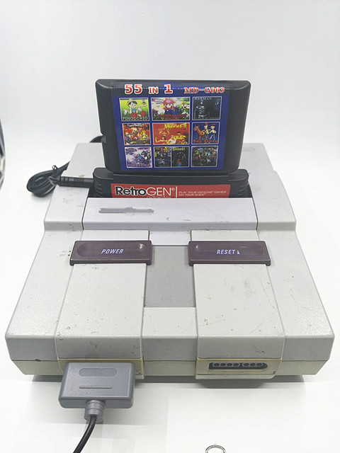 RetroGEN - Play Sega Genesis Game Cartridges on SNES console - Includes 55 Classic Games 1