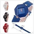 Chegada nova KEZZI Relógios de Quartzo das Mulheres de Luxo relógios À Prova D' Água Mini Quadrados Senhoras Meninas de Couro de Pulso relogio feminino