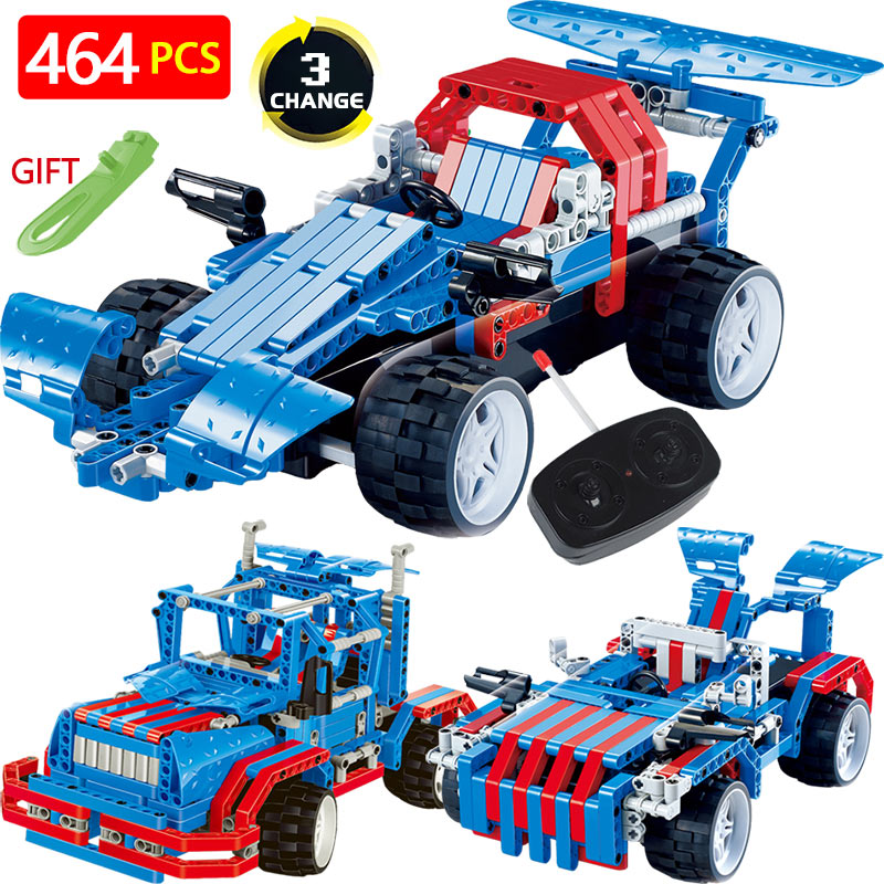 Technic Transformtion RC Car Series Blocks LegoINGlys Vehicle Truck Offroad Radio Remote Control Machine DIY Brick Toys For Kids 2 in 1 rc car compatible legoinglys radio technical vehicle green suv control blocks assembled blocks children toys gift