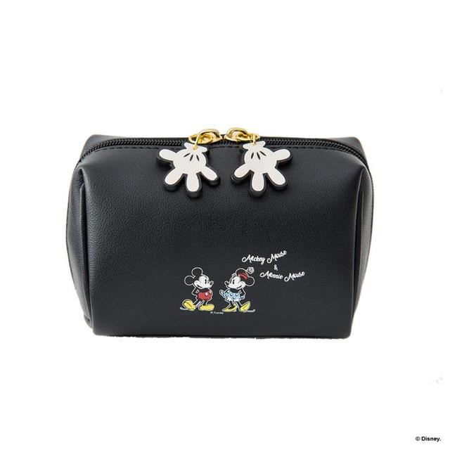 Disney Mickey mouse cosmetic plush purse bag lady clutch bag cartoon coin pu purse bag  holder card mini storage handbag