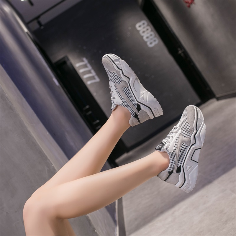 Sports Sneakers Women Shoes New Arrival Outdoors Breathable Mesh Flats Runnig Sneakers Woman Sport Shoes кроссовки женские in Running Shoes from Sports Entertainment