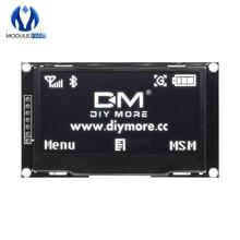 """Цифровой ЖК-экран 12864 128X64 OLED дисплей модуль C51 плата для Arduino белый SSD1309 STM32 Diy Электронный 2,4"""" 2,42 дюймов"""