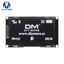 Ekran cyfrowy lcd 12864 128X64 moduł wyświetlacza oled C51 zarząd na Arduino biały SSD1309 STM32 Diy elektroniczny 2.42