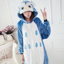 Venda quente Unisex Adulto Pijama Cosplay Animal Macacão Pijamas Animal Coruja pijama
