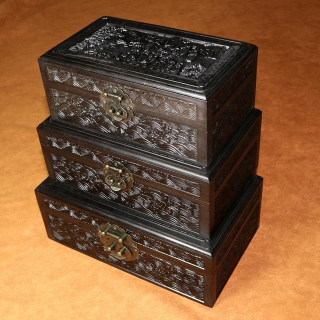 Free Shipping African Ebony Blackwood Wooden Jewelry Box ,wooden Case, Jewelry Case,jewelry