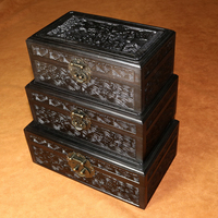 Free Shipping African ebony blackwood wooden jewelry box ,wooden case,jewelry case,jewelry storage box/ Wood Case Gift Box
