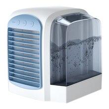 Вентилятор воздушного охлаждения портативный цифровой увлажнитель воздуха Очищает вентилятор воздушного охлаждения для домашнего офиса без шума летний охладитель воздуха