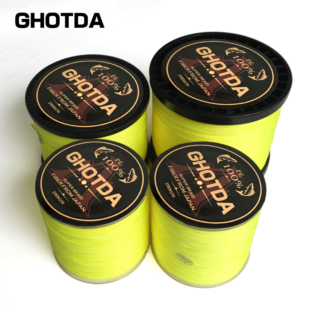 4 Braid Braided Fishing Line 300 500 1000M Super Strong Multifilament Fishing Lines 4 Strand Peach Essays Rope 10LB-80LB peach pit shugo chara 4