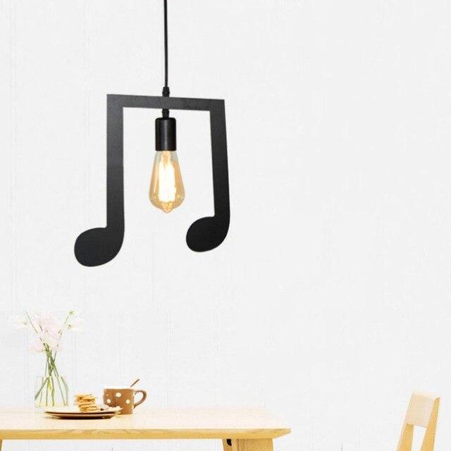 ICOCO A-Z words Music character E27 Creative Pendant Lamp bedroom Pendant Lighting