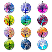 Buy cabochon tree of life and get free shipping on aliexpress 12 30mm round glass cabochon tree life art pendant making mozeypictures Choice Image