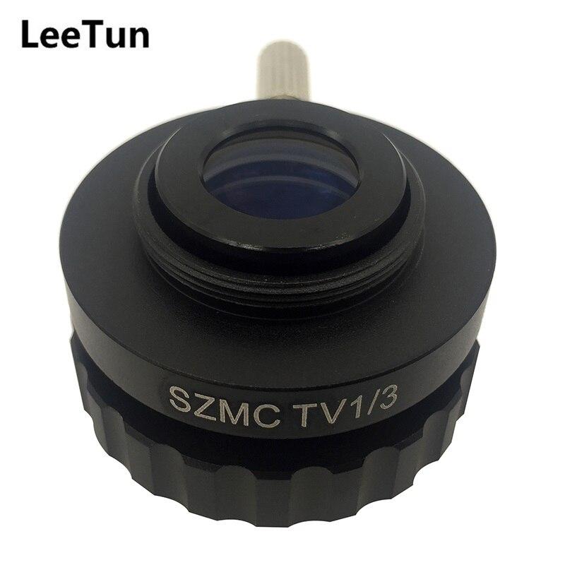 все цены на LeeTun 0.3X C Mount Adapter Reduce Lens for Trinocular Stereo Microscope 1/3 CTV CCD Connecting with USB Camera SZMCTV1/3 онлайн