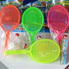 1 Pair Badminton Tennis Set Novelty Kid Baby Outdoor Sports Racket Parent-child Sport Educational Toys Bat Baby Sport(China)