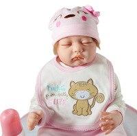 55 см всего тела силиконовые возрождается девочка куклы реалистичные новорожденных кукла милый подарок на день рождения купаться игрушка