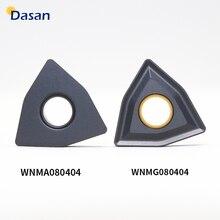 10 Pcs WNMG080404 WNMA060408 Inserti in Metallo Duro Wnma Cnc Tornio Lama di Alta Qualità Strumento Taglierina Piastra per Il Cast di Ferro