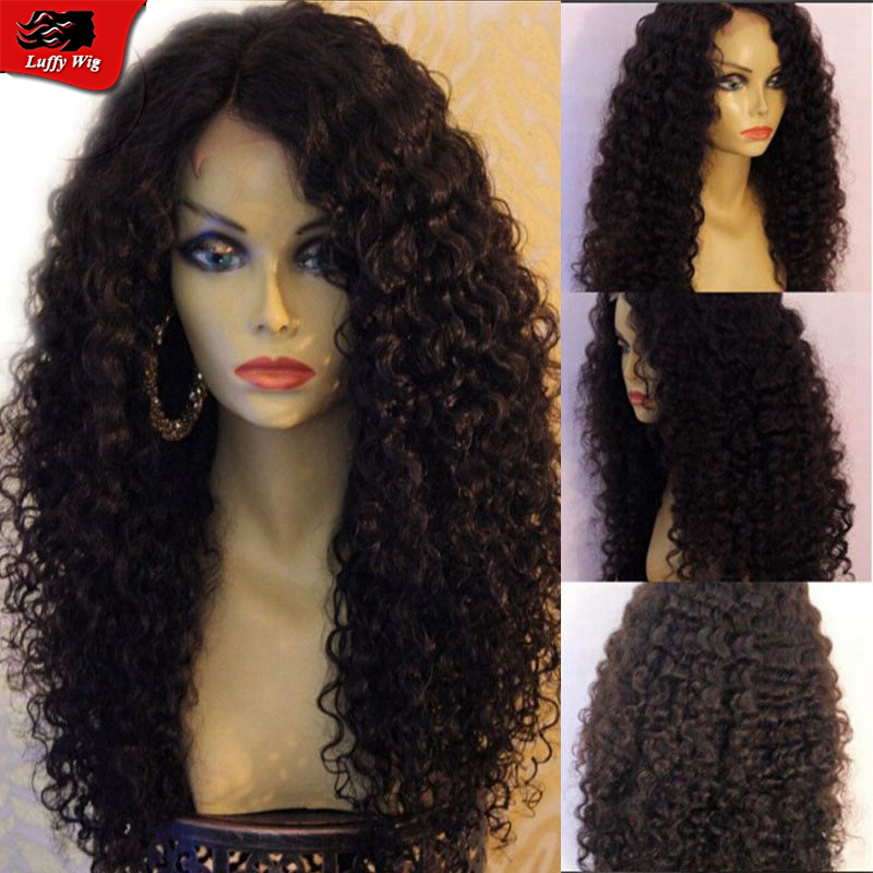 Malaysian Deep Curly Wigs 100 Human Hair Lace Front Wigs
