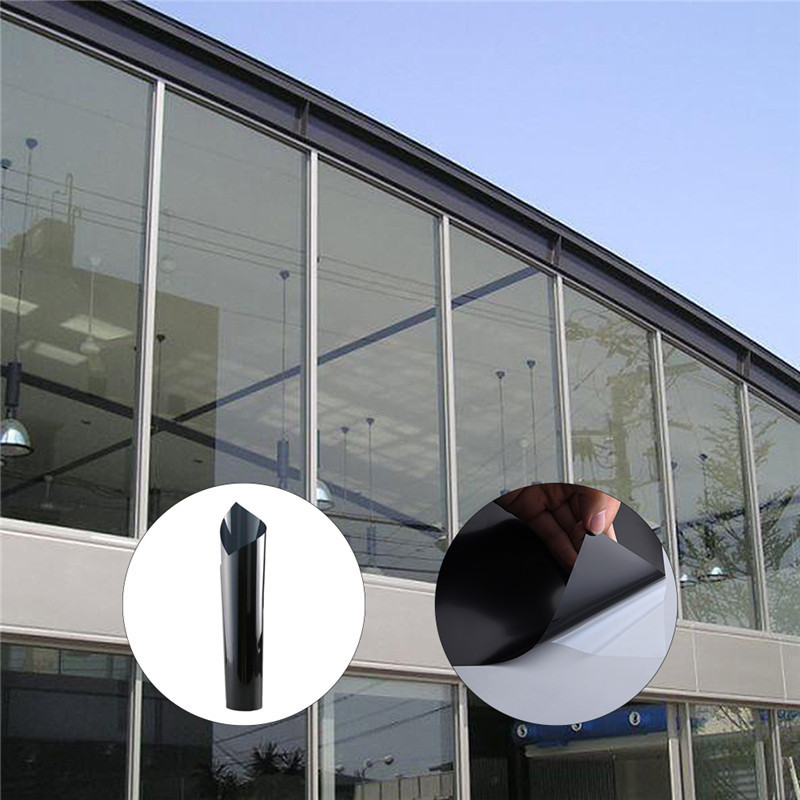 60x500cm Black glass film for windows Sun-proof Heat-proof dull polish film Anti-burst self adhesive film window protective fi