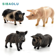 Simulation Wild Boar Pig Animal model figurine home decor miniature fairy garden decoration accessories modern Plastic Craft toy