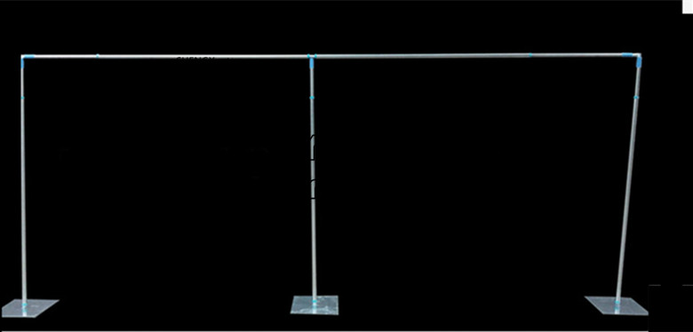 Factory Price Wedding Backdrop Pipe Stand \ Stent For Banquet Event Decoration Stainless steel pole 3m*6m