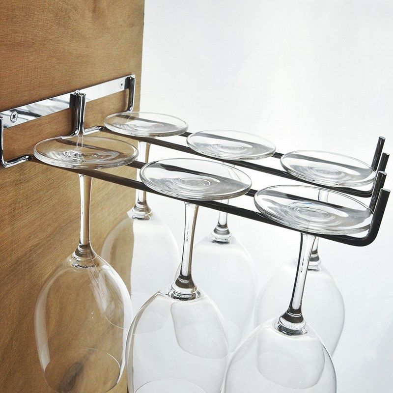 Black Wine Glass Holder/ Bronze Tabletop Hemp Rope/ Stemware Rack with 6 Hooks Freestanding Cup Storage Elegant Classic Stainless Steel for Home and Bar Goblet Organizer Rack Stemware Hanger
