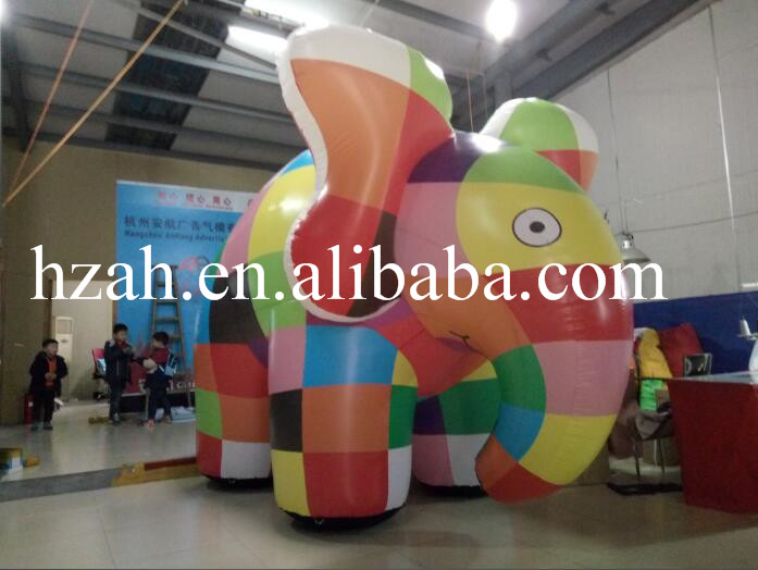 New Design Multicolor Inflatable Elephant