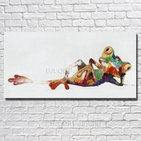 Handpainted Frog Oil Painting High Quality On Canvas Abstractive Art Room Decorations Beautiful Picture No Framed