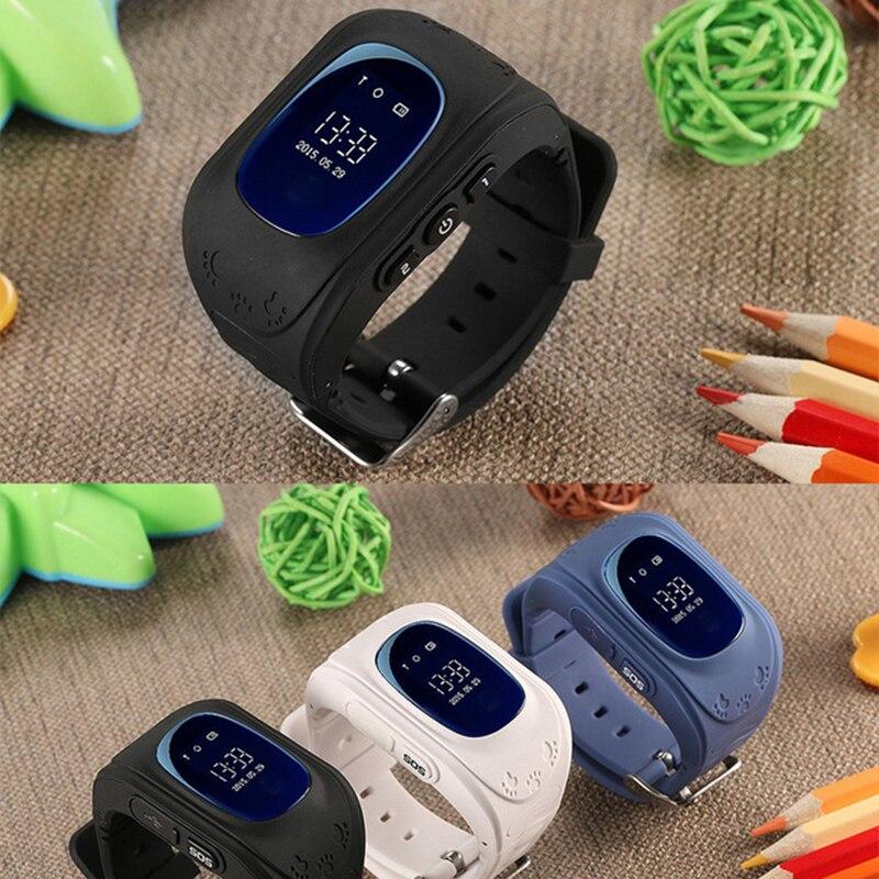 imágenes para Lemado Q50 2G Tarjeta SIM GSM GPRS SmartWatch Reloj Niño GPS de seguimiento de Posicionamiento anti-perdida de Llamada SOS Niños Reloj para IOS Android