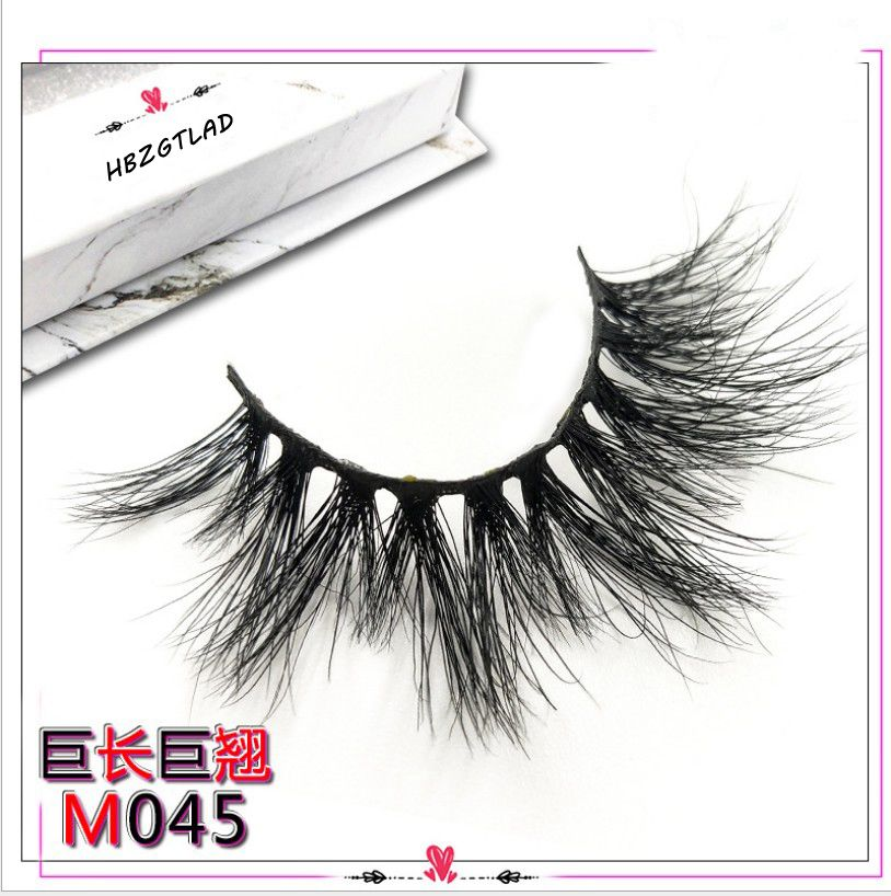 NEW Length 20-27mm Mink Eyelashes False Eyelashes Crisscross Natural Fake lashes Makeup 3D Mink Lashes Extension Eyelash Beauty