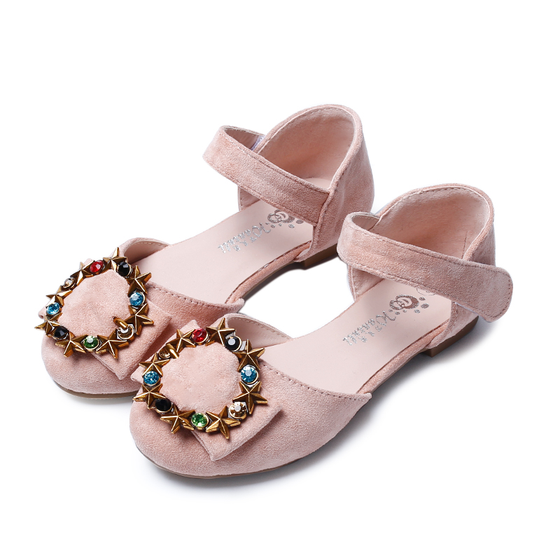 2018 Spring Baby Girl Children Party Princess Leather Shoes Student Dance Bright Diamond Kids Shoes High Quality Gift sandals