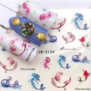 Image 5 - 1 Sheet Nail Stickers Water Transfer Sticker Cartoon Flamingo Cute Animal Designs Nail Art Slider Manicure Decoration
