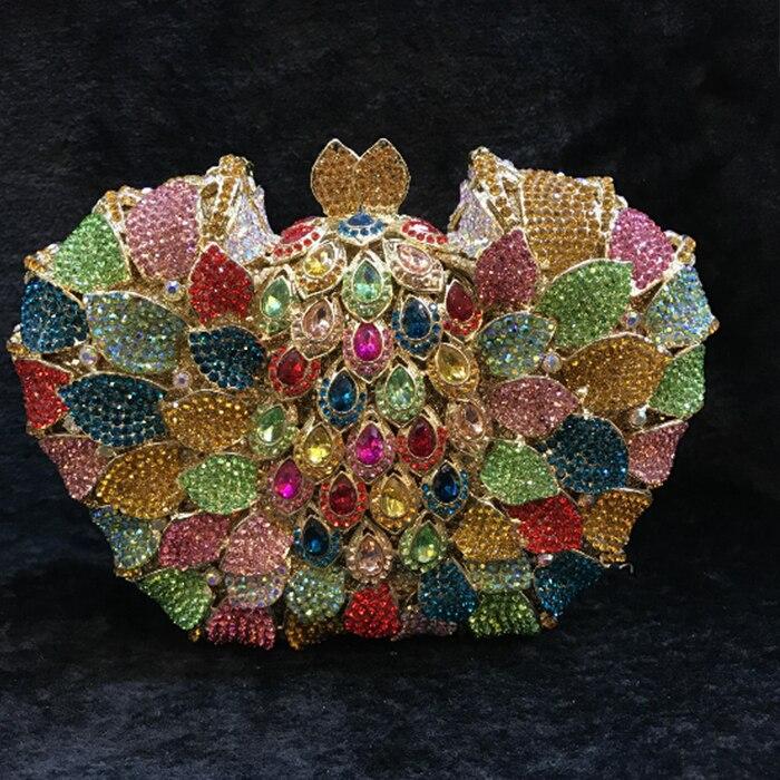 Fuchsia Hollow Out Floral Rhinestones Evening Party Clutch Bridal Purse Wedding Crystal Women Clutches Handbags crossbody bag цены