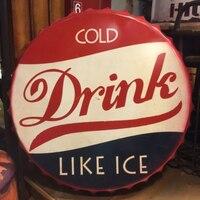 Холодный напиток большой пивной крышку жестяной знак логотип доска Винтаж металл роспись стены Стикеры гладить вывеска декоративные Табли