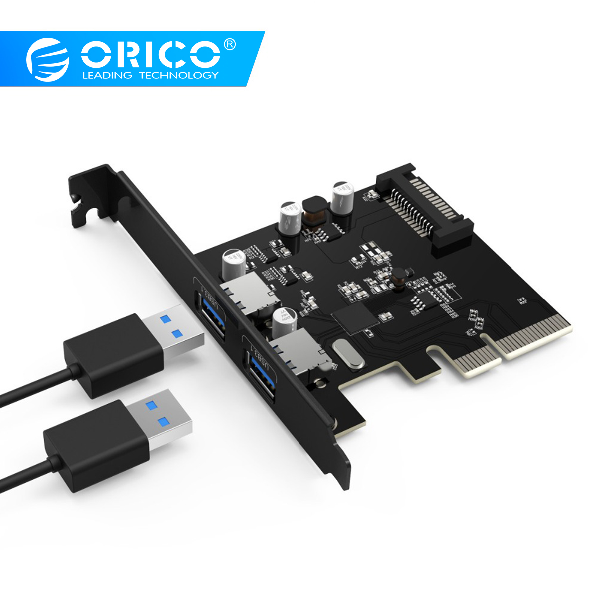 ORICO PA31-2P 2 Ports USB3.1 ordinateur de bureau carte PCI-E asme haute vitesse Express carte 10 Gbps Hot Swap 15pin alimentation-noirORICO PA31-2P 2 Ports USB3.1 ordinateur de bureau carte PCI-E asme haute vitesse Express carte 10 Gbps Hot Swap 15pin alimentation-noir