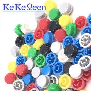Image 5 - 1000 قطعة/الوحدة جولة التبديل زر كاب A24 يمكن استخدامها مع 12*12*7.3 التبديل (7 ألوان)