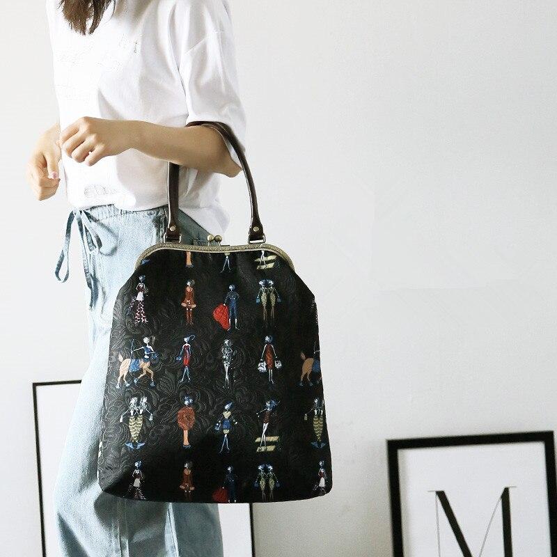 Grandes femmes sac à main 27 cm métal cadre sacs Professiona fait main bricolage artisanat matériel paquet cadeau pour ami voyage